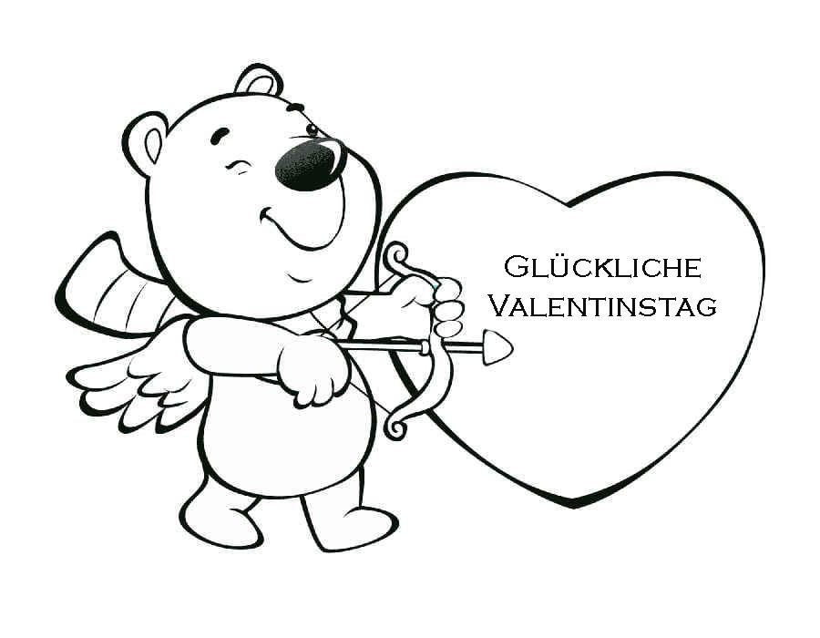 Ausmalbilder Valentinstag. Schöne Bilder für den 14. Februar