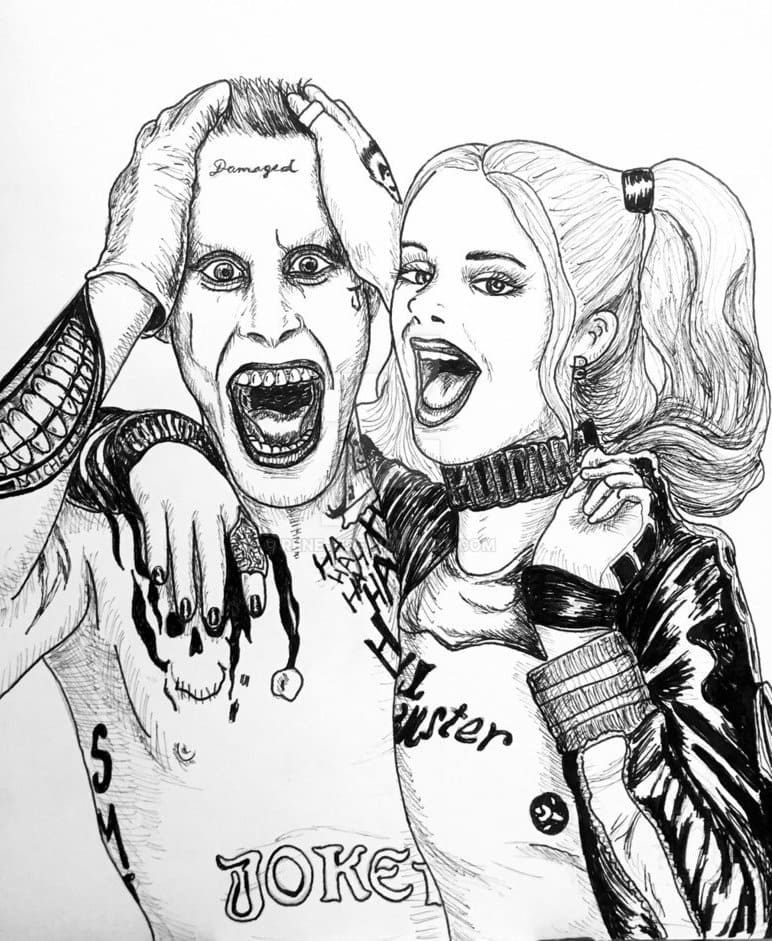 Harley Quinn Coloring Pages. Print for free, the best images