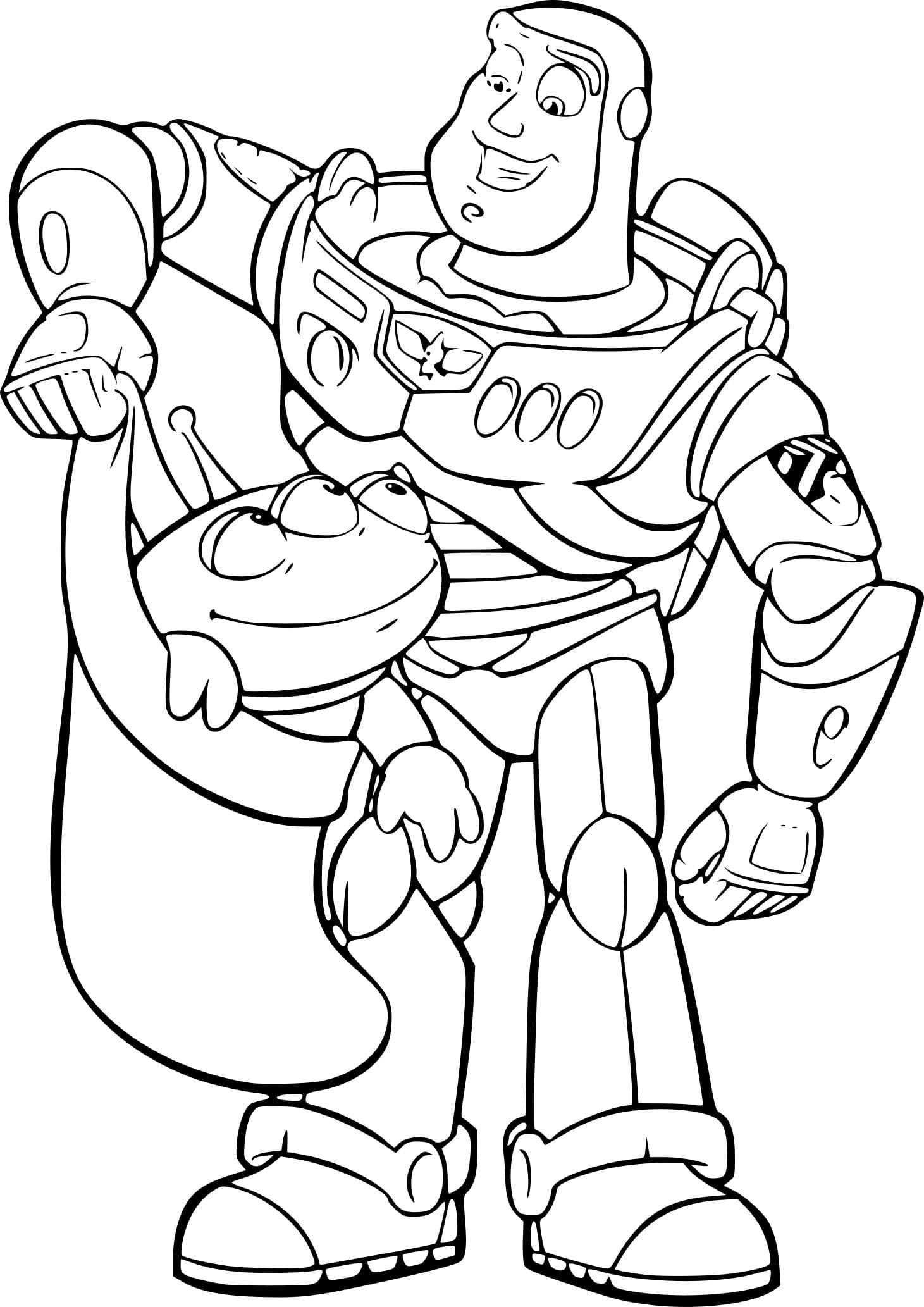 Disegni di Toy Story da colorare. Stampa gratis per i bambini