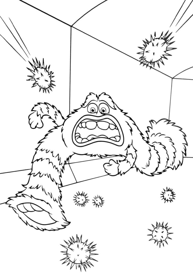 ausmalbilder monster inc mike sally und andere monster
