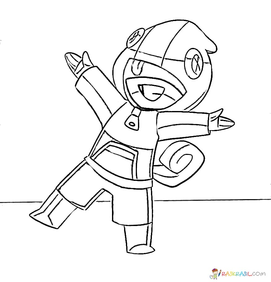 Dibujos para colorear Leon. Imprimir personajes Brawl Stars