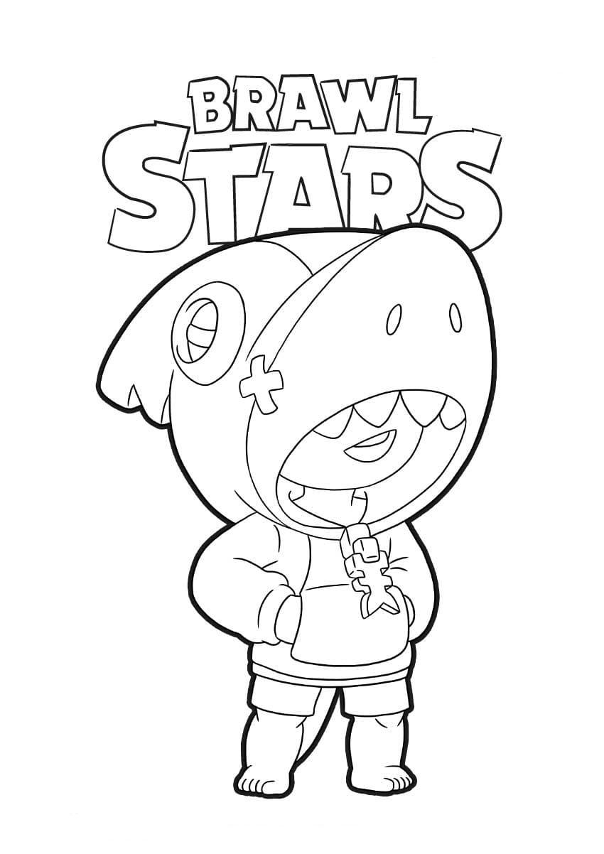Disegni da colorare Leon. Stampa personaggio Brawl Stars
