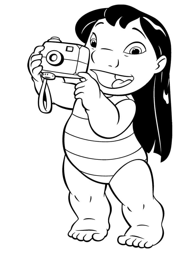 Раскраски Лило и Стич. Скачать или распечатать бесплатно для детей