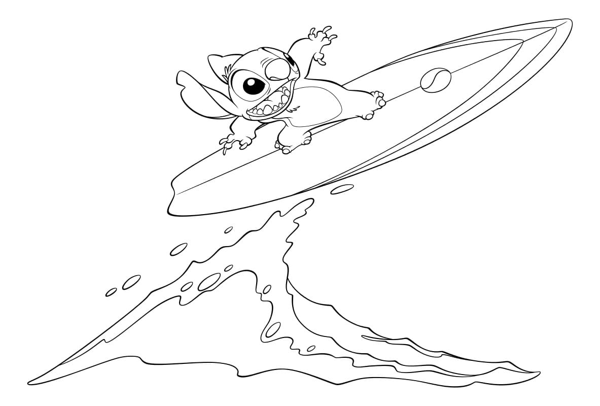 Lilo And Stitch Coloring Pages 65 Images Free Printable