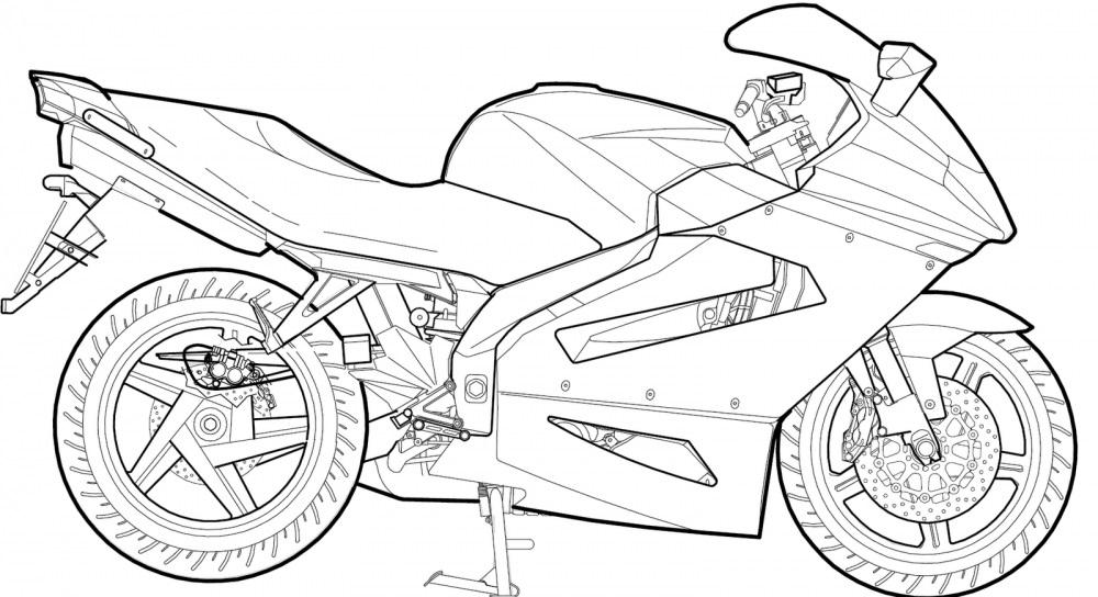 Раскраска Мотоциклы для мальчиков. Распечатать бесплатно
