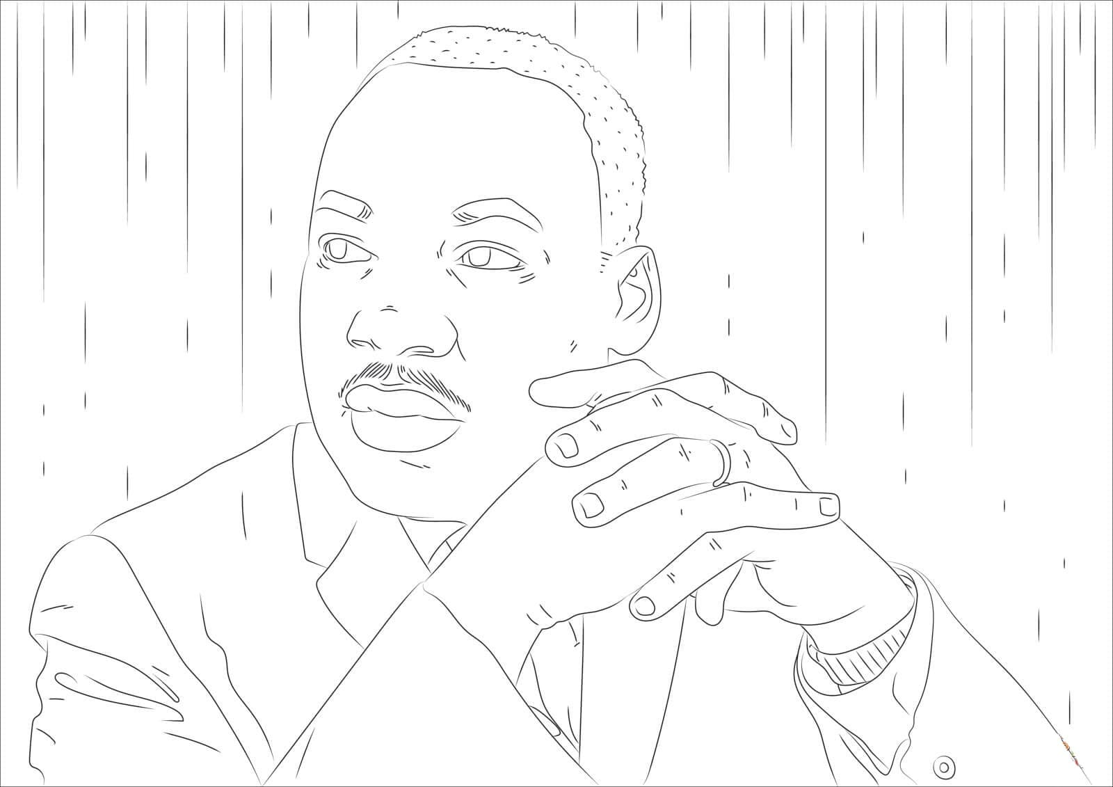 Martin Luther King, Jr. Day coloring pages. Print for free