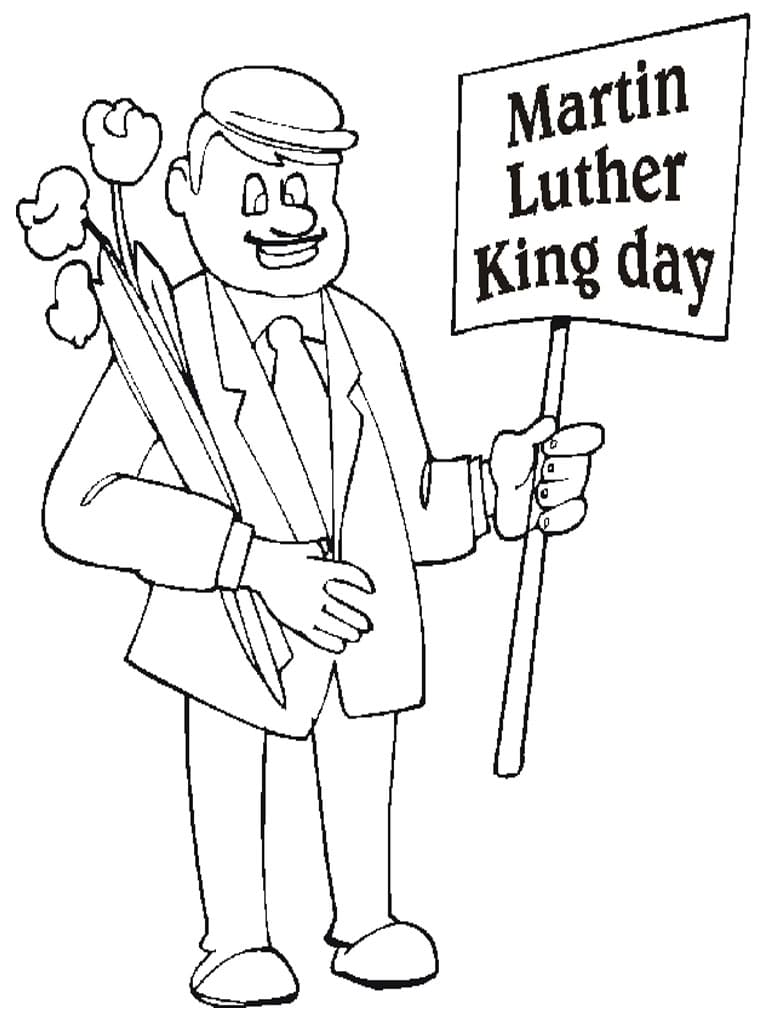 Martin Luther King Day Coloring for Preschool/Kindergarten | Mlk ... | 1024x768