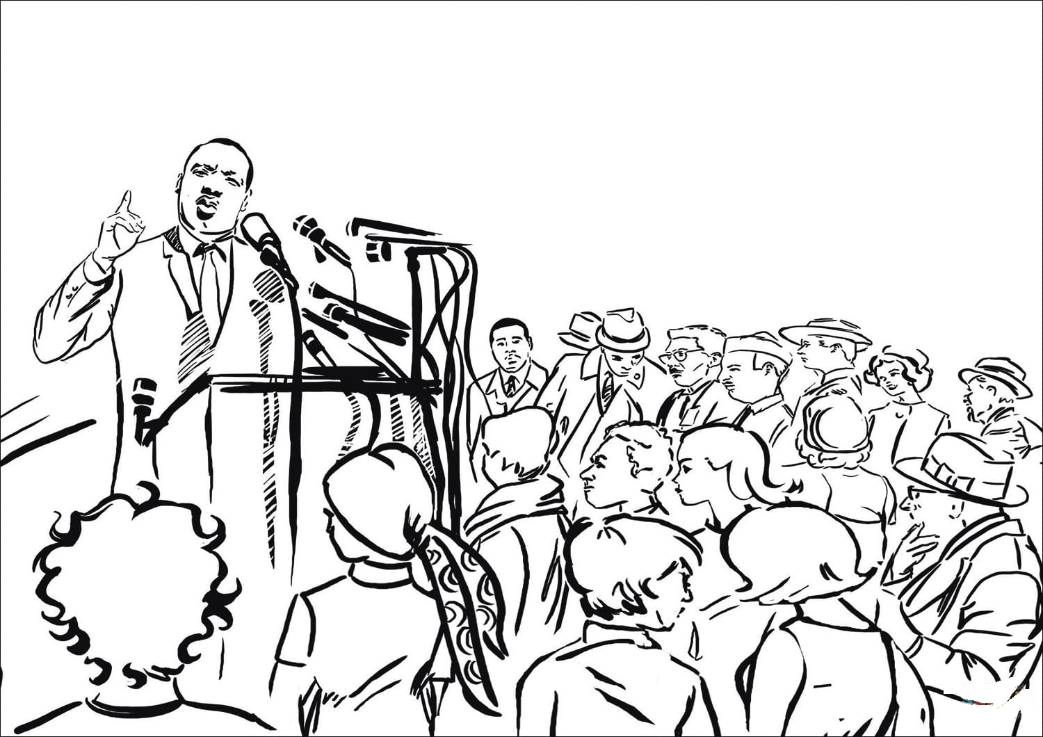 Martin Luther King Jr Coloring Pages - GetColoringPages.com | 1060x1500