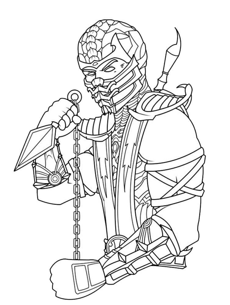 Раскраски Мортал Комбат. Распечатайте известных персонажей с игры