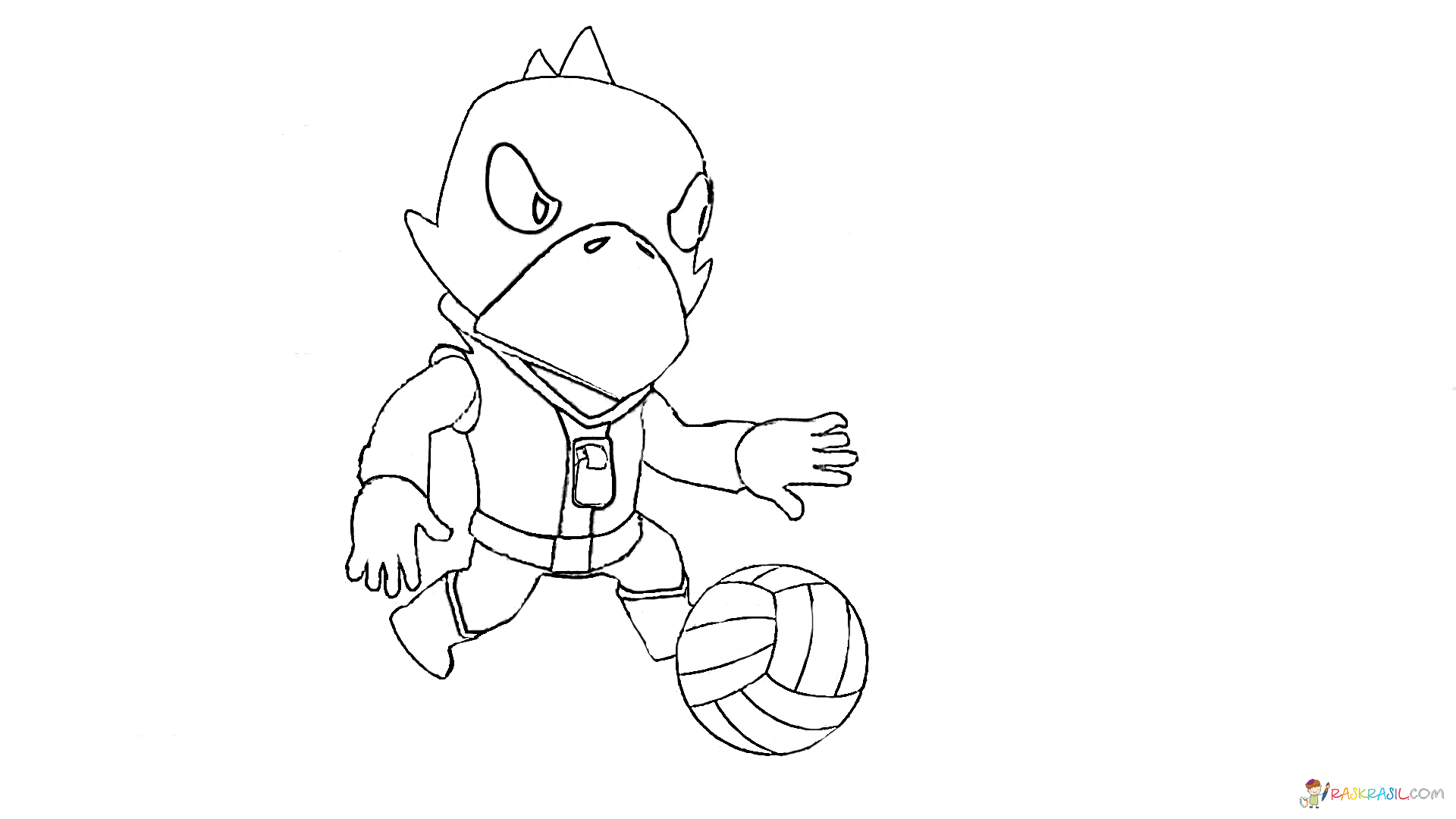 Coloring pages Crow. Print Brawl Stars Hero online