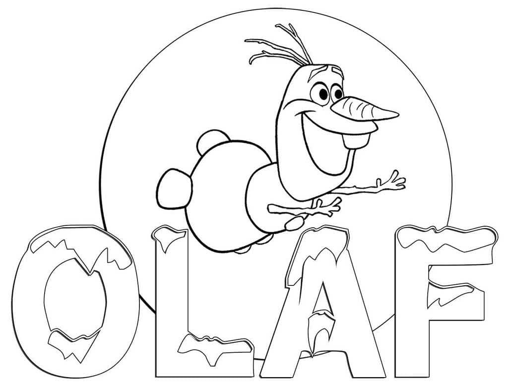 Desenhos de Olaf para colorir. Imprimir boneco de neve de Frozen