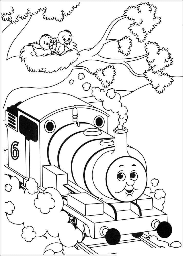 Раскраски Паровозик Томас и его друзья. Распечатать бесплатно