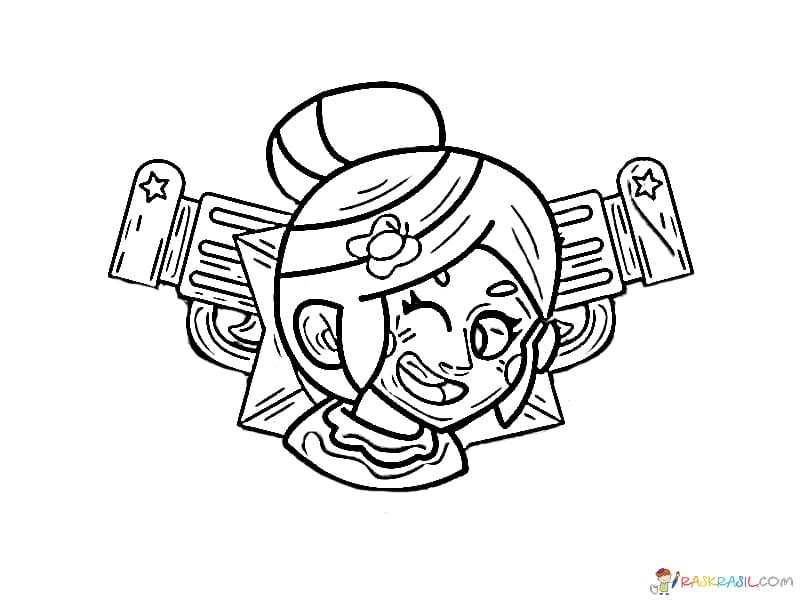 Coloring pages Piper. Print for free character Brawl Stars