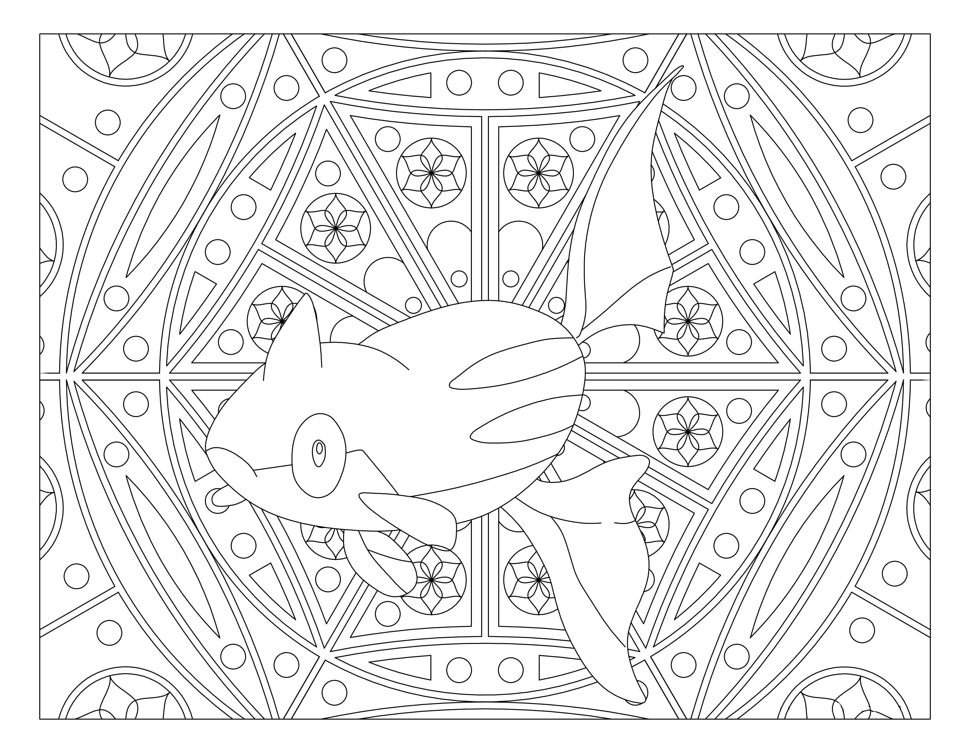 Coloring Pages Mandala Pokemon. Print for free, over 80 images