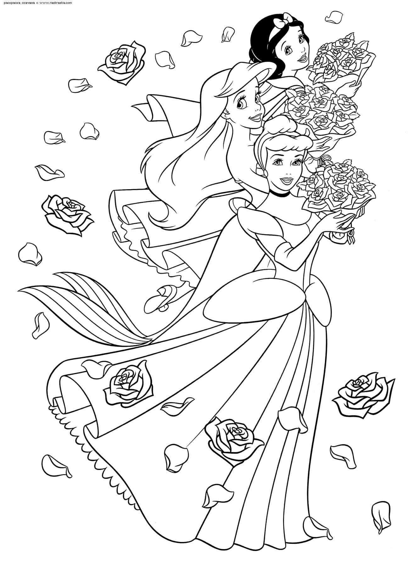 раскраски принцессы распечатайте бесплатно
