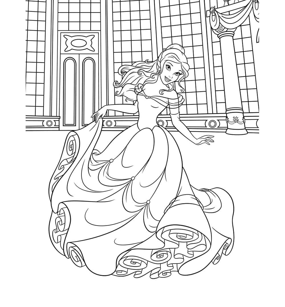 Открытки, картинки с принцессами раскраски