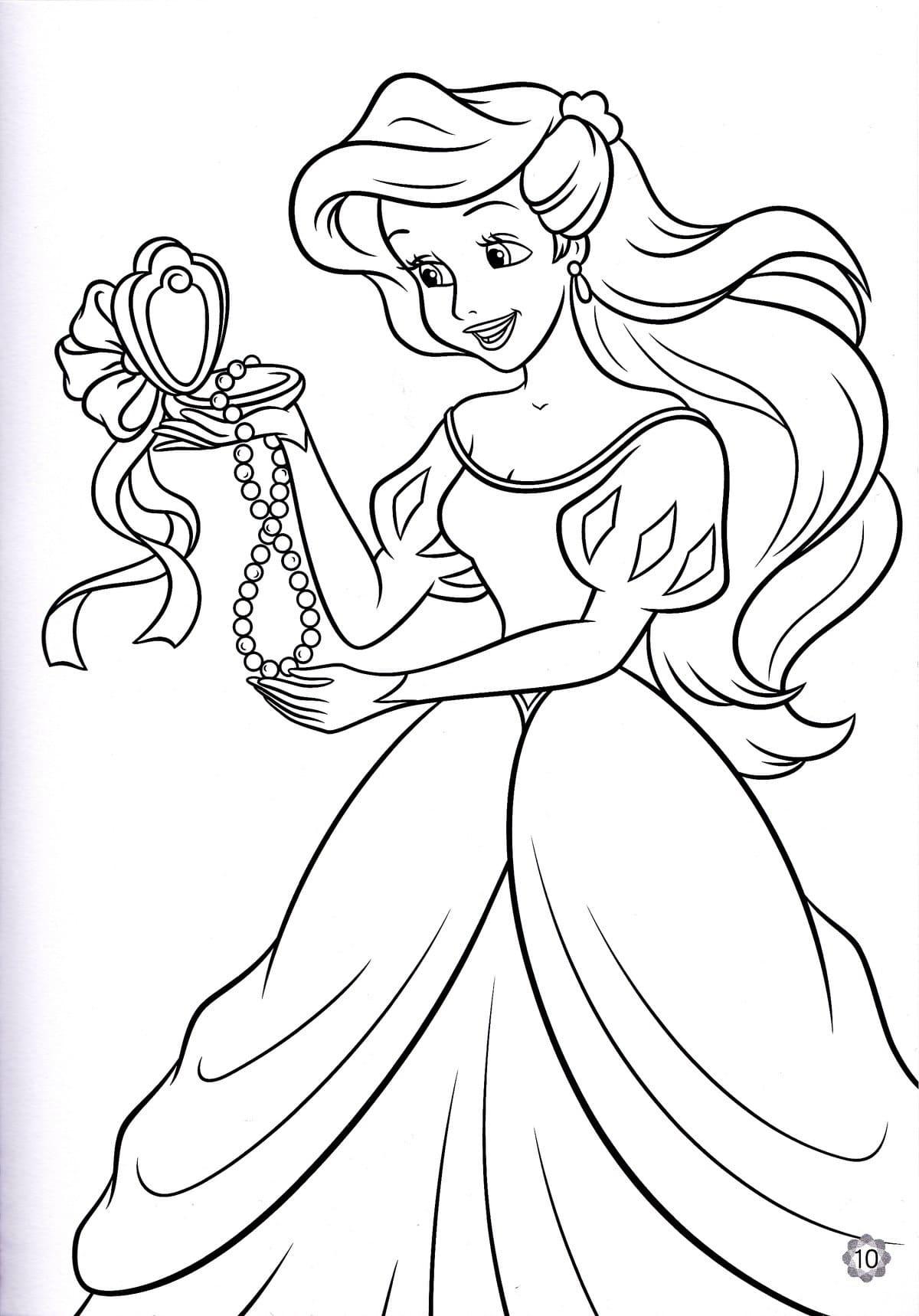 Картинки про принцесс раскрасить