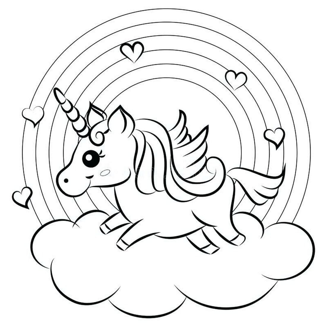 Rainbow Coloring Pages. Print for free on the website, 60 images