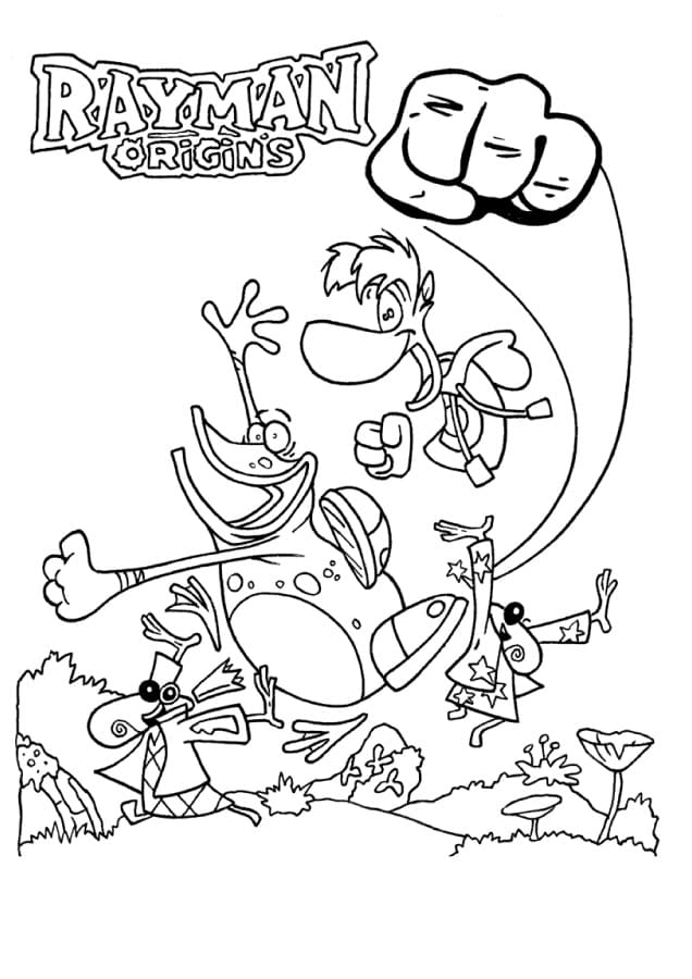 Coloring pages Rayman. Print character from the game