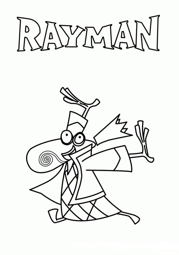 Coloring Pages Rayman Print Character From The Game
