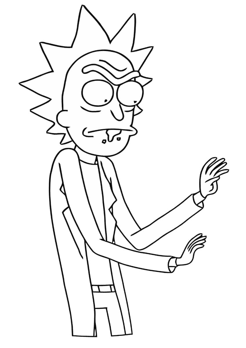 Coloriage Rick et Morty. Imprimez des images intergalactiques ici