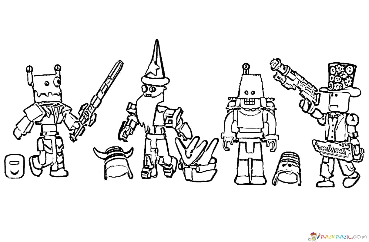 Coloring Pages Roblox Big Unique Collection Print For Free Online