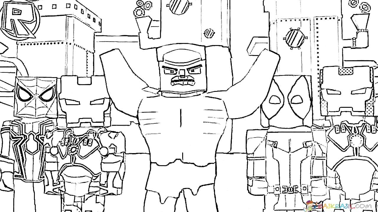 Coloring pages Roblox. Big unique collection. Print for free online