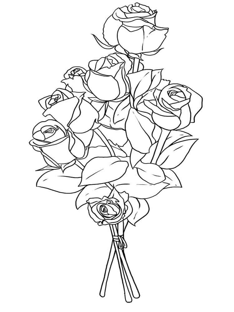 Раскраски Роза. Распечатайте королеву цветов онлайн