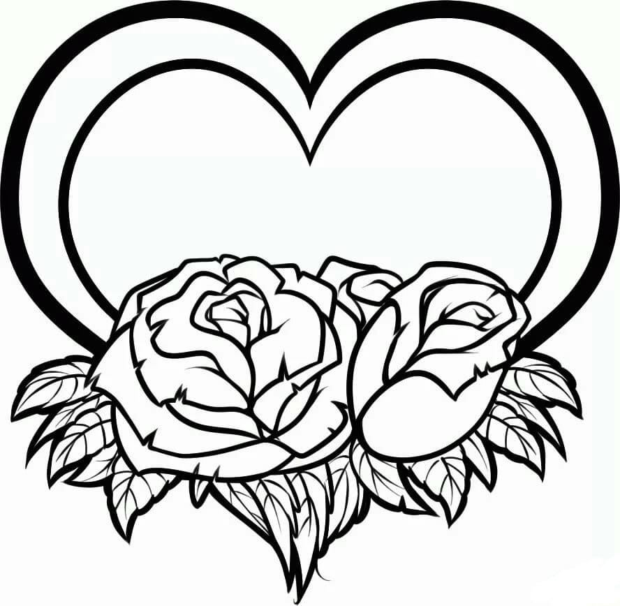 Coloring pages Rose. Print the flower queen online