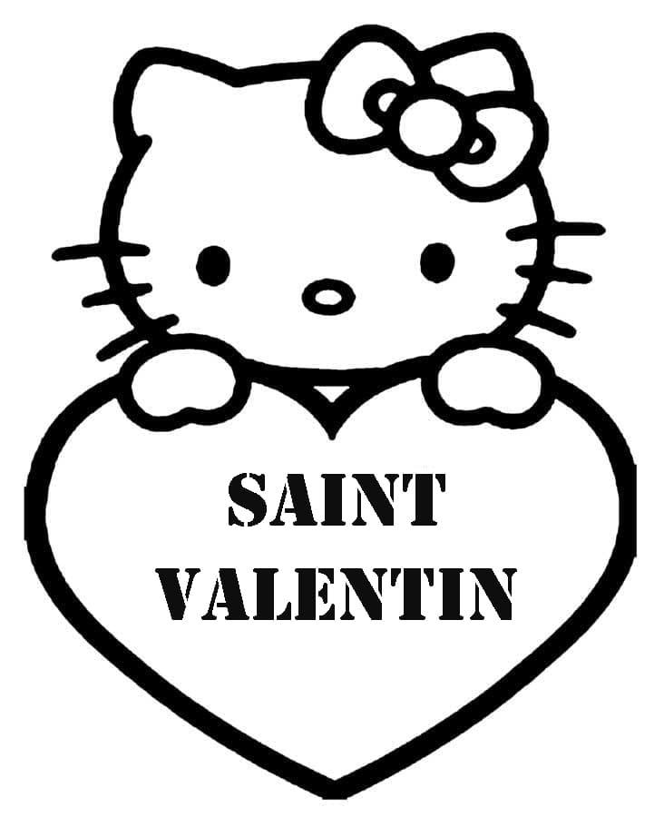 Coloriage Saint Valentin. Imprimer les images 14 février