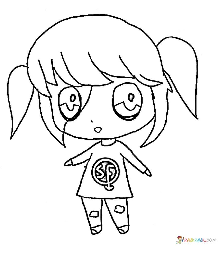 Раскраски Салли Фейс (Sally Face). Распечатать бесплатно