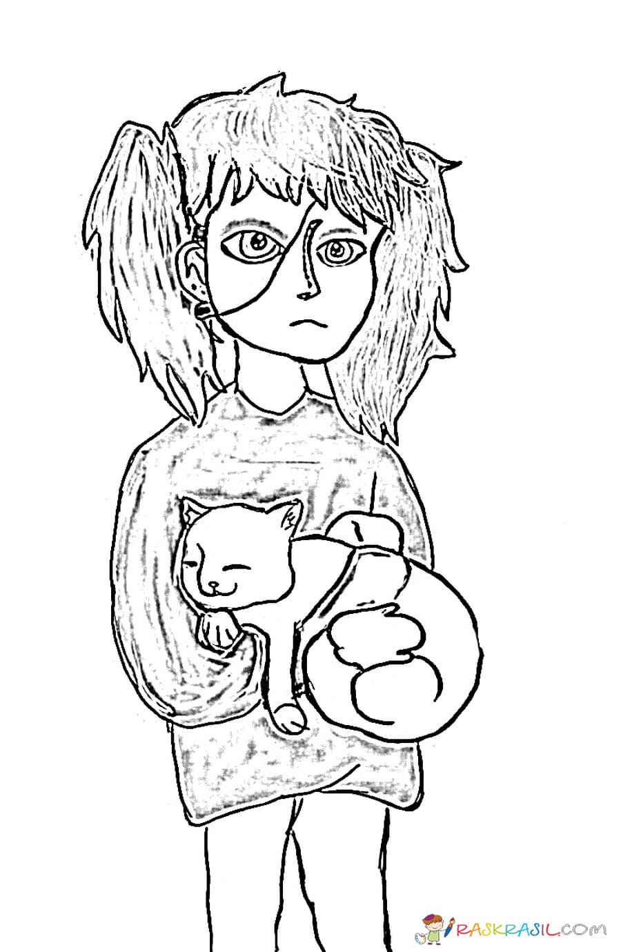 Coloring Pages Sally Face. Print for free, the best pictures