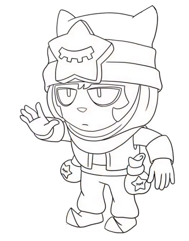 Coloring Pages Sandy. Print Brawl Stars Character Online