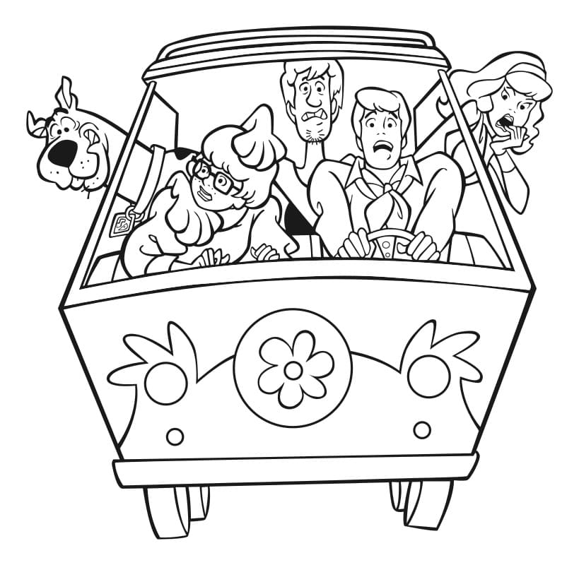 Scooby Doo Coloring Pages Big Collection For Children Online