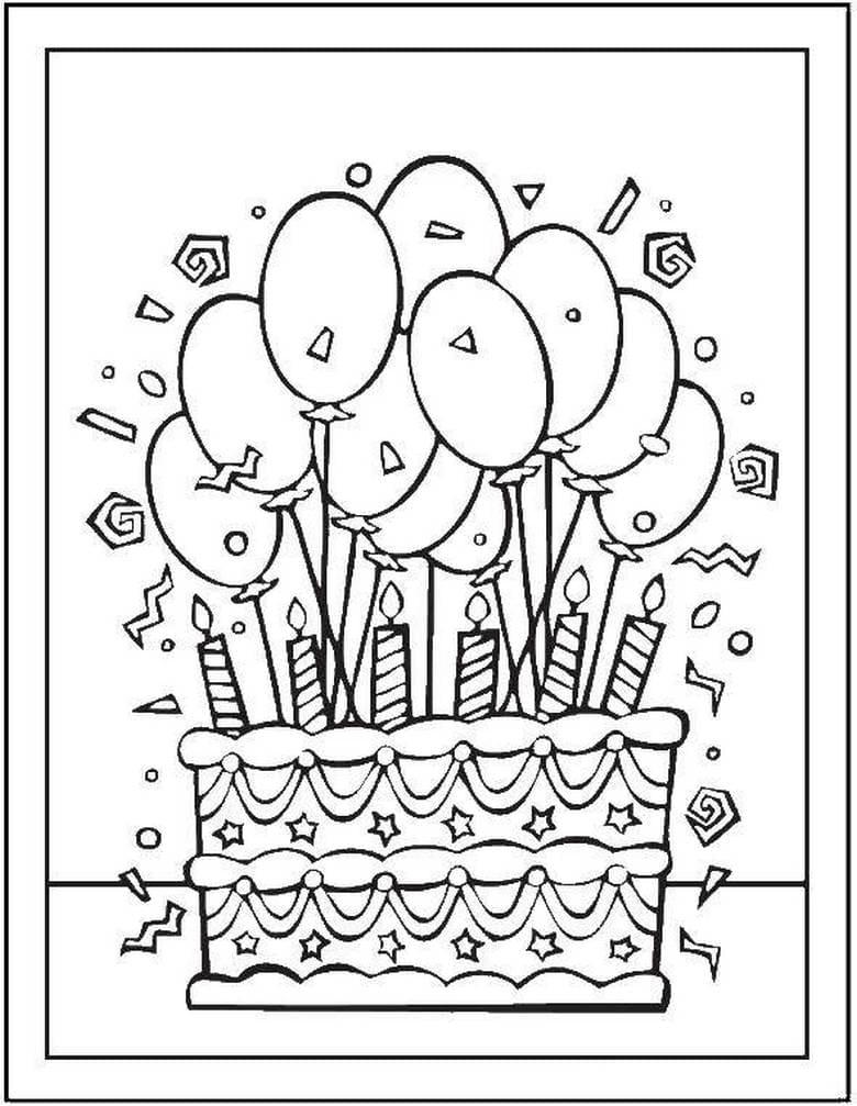 Открытка с тортом на день рождения дедушке