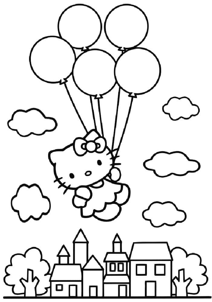 Раскраски Воздушные шарики. Распечатайте бесплатно