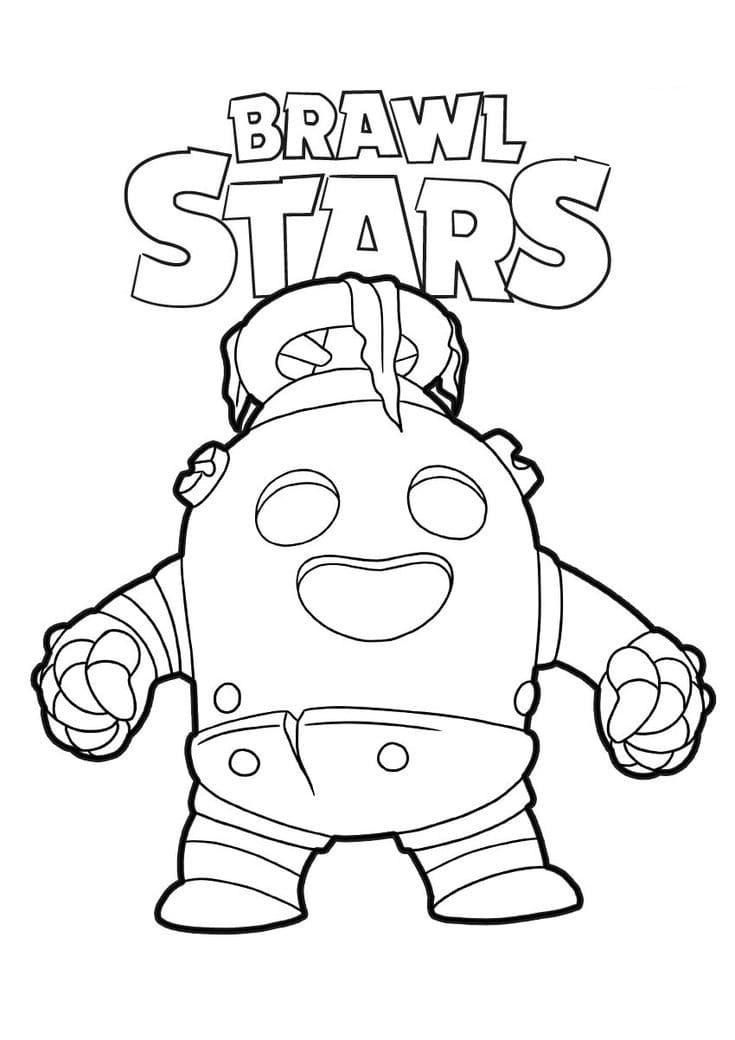 Coloriage Spike. Imprimer personnage Brawl Stars