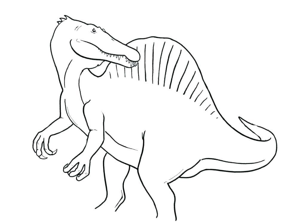 Coloring pages Spinosaurus. Download or print for free