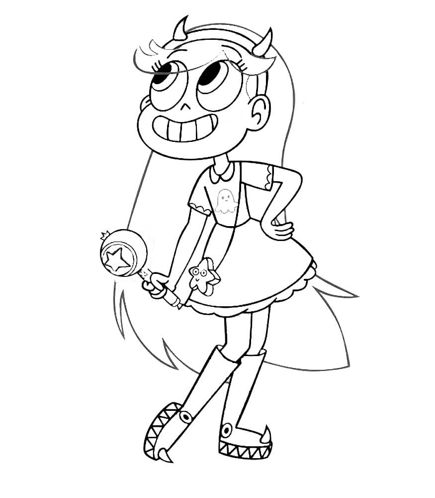 Star vs the Forces of Evil coloring pages. Print the princess