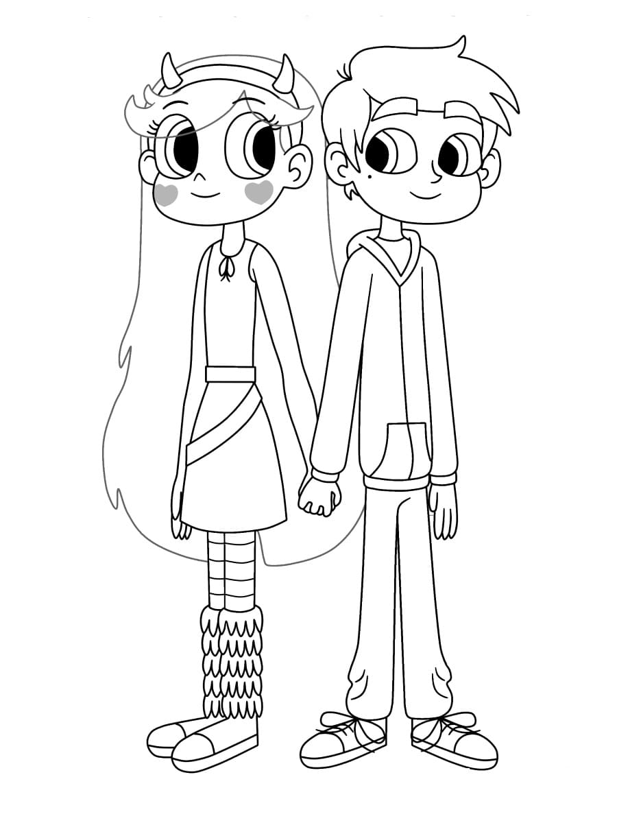 Disegni da colorare di Star vs the Forces of Evil. Stampa la principessa