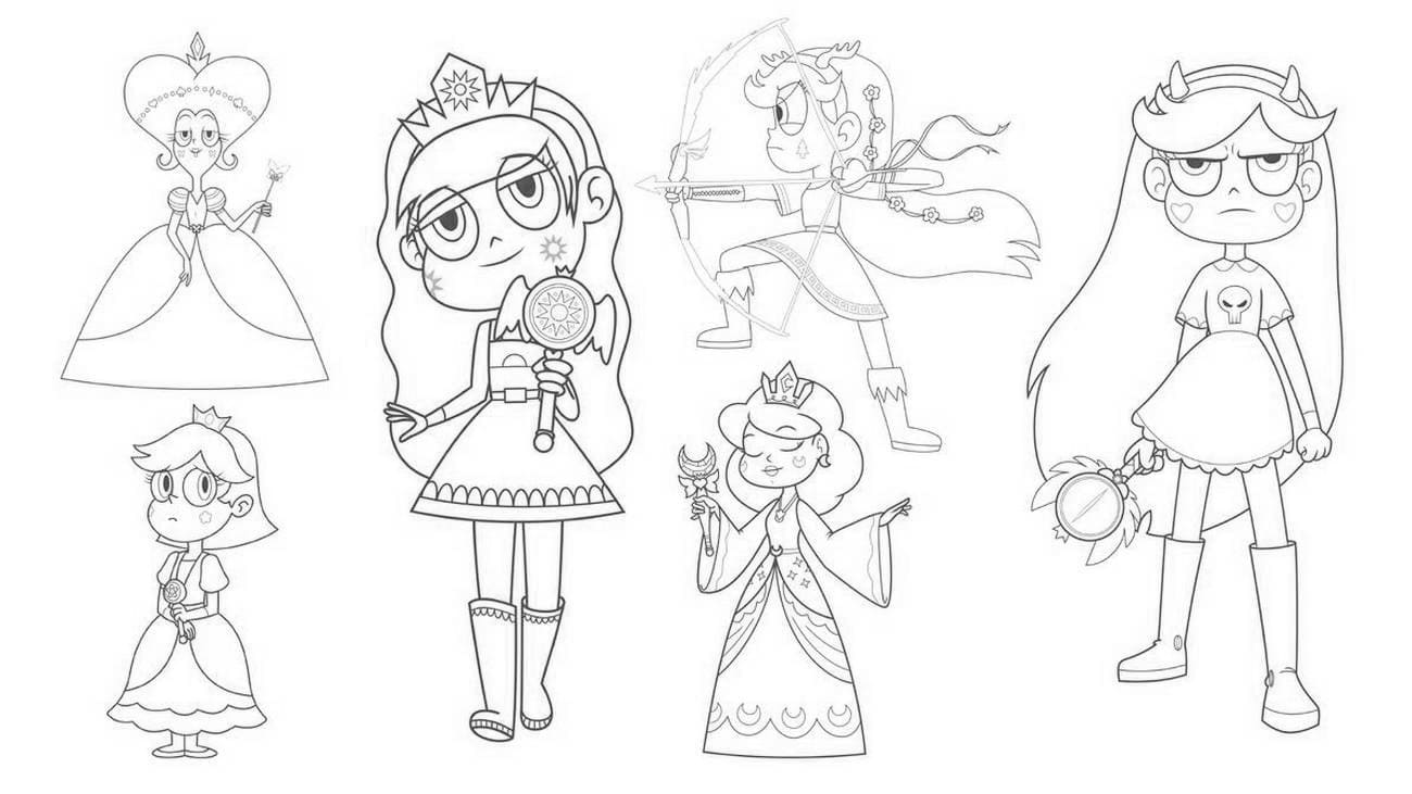 Dibujos de Star vs the Forces of Evil para colorear. Imprime la princesa