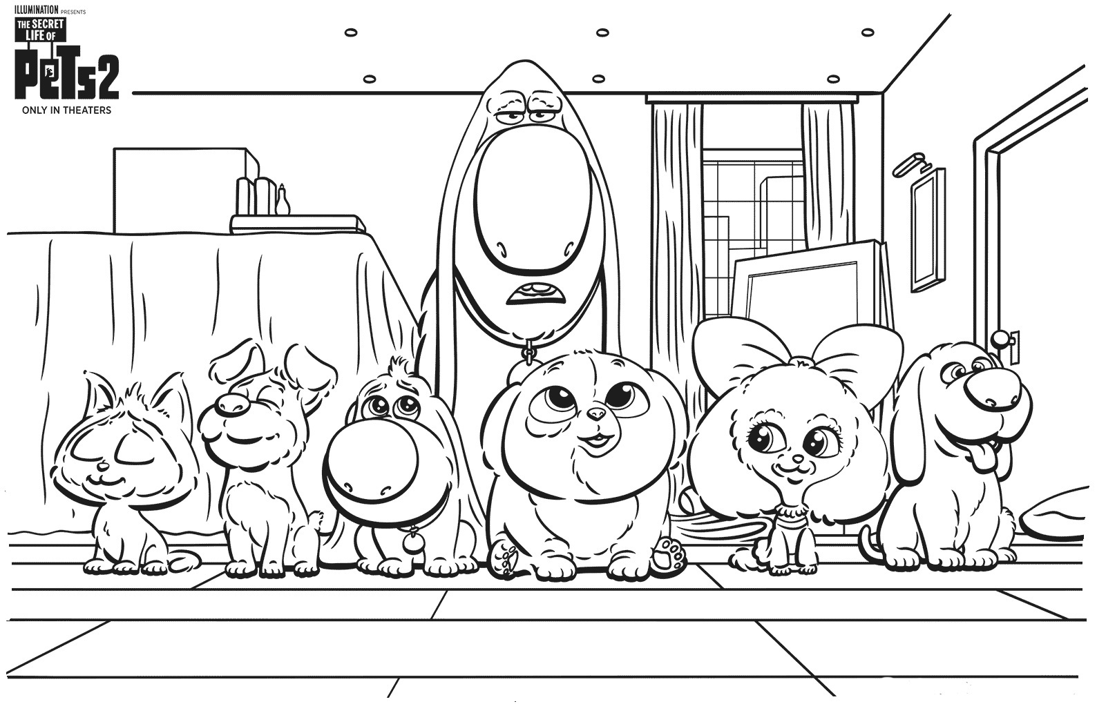 - The Secret Life Of Pets Coloring Pages. Print Them For Free!