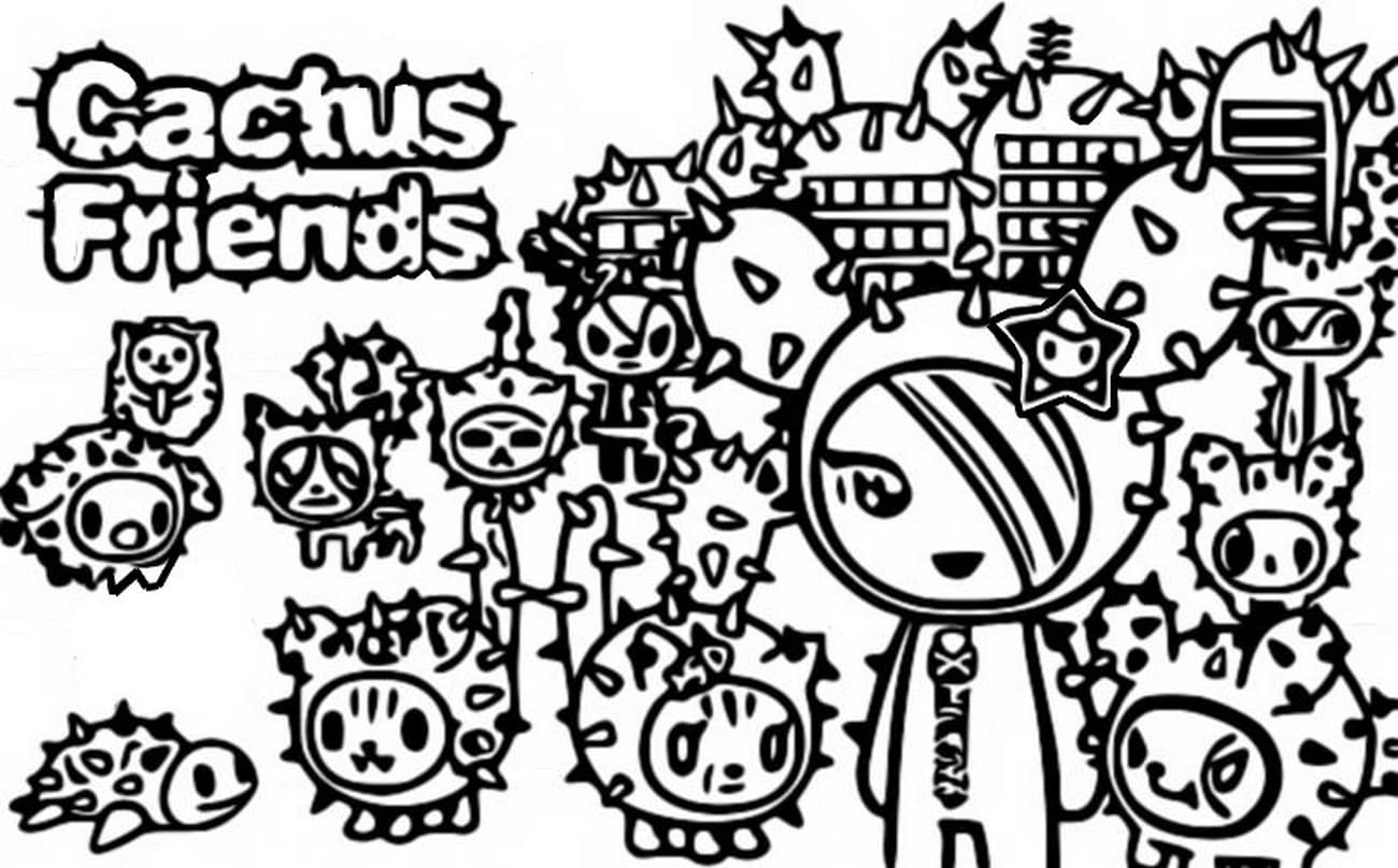 Tokidoki Coloring Pages. Print for free, 50 pictures