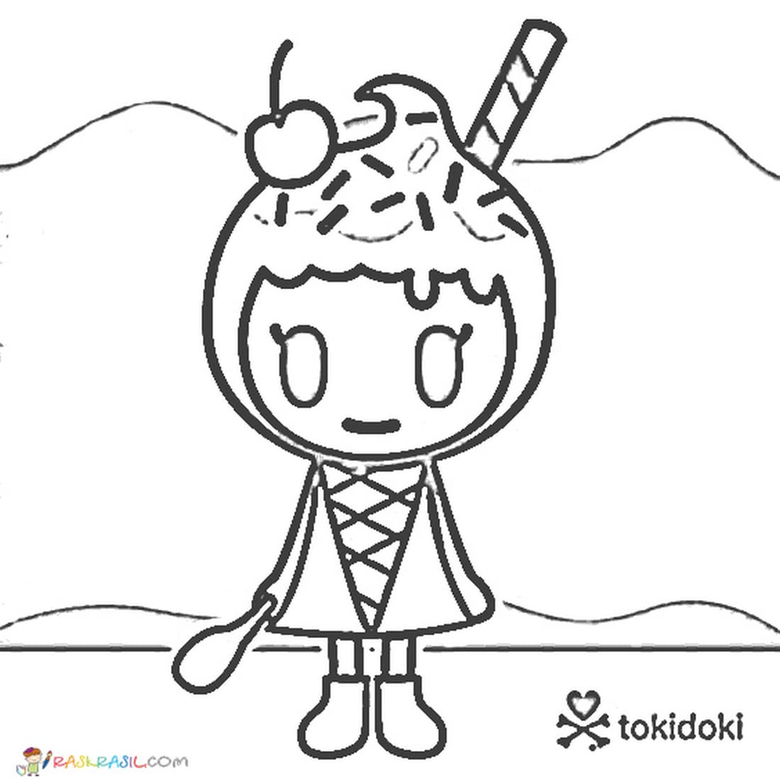 Tokidoki Ausmalbilder. Kostenlos drucken, 50 Bilder