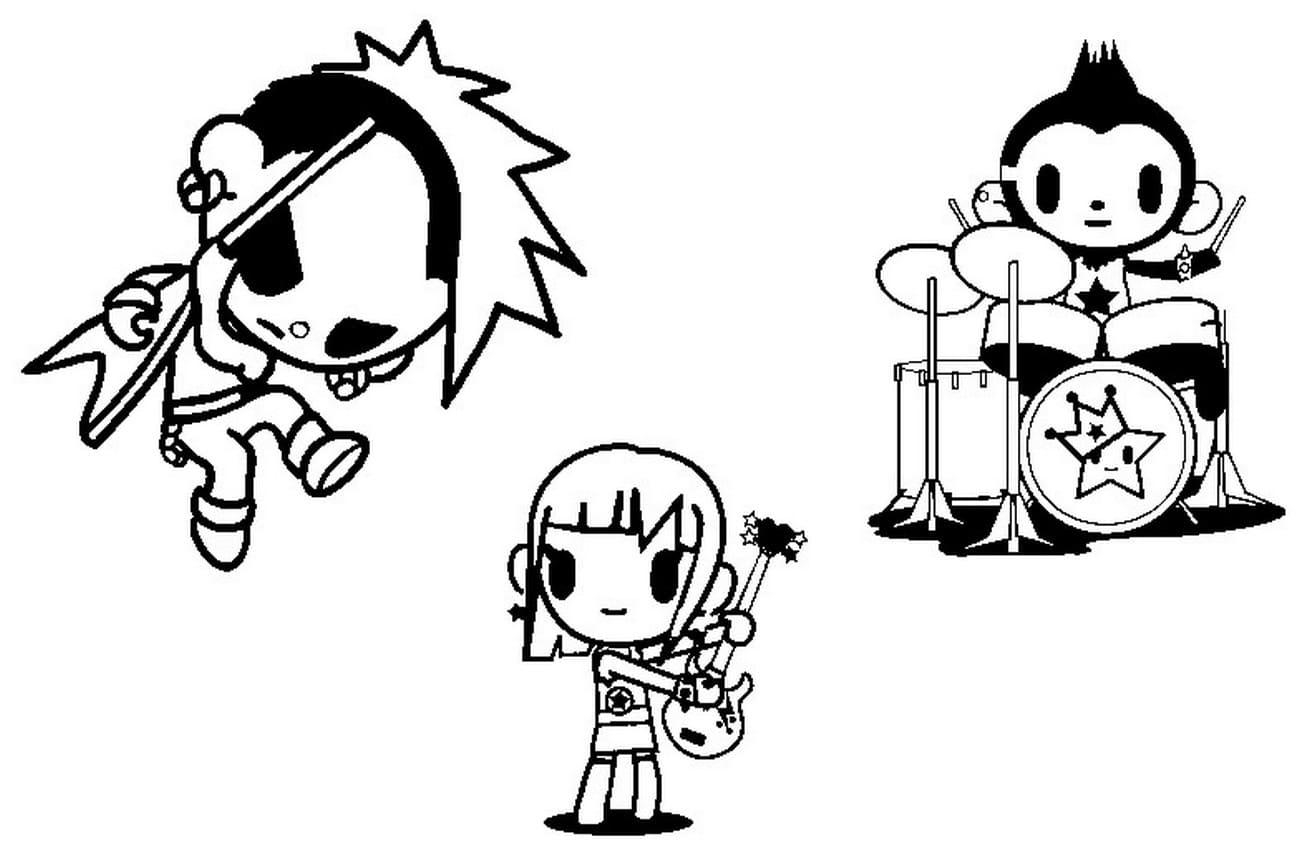 Dibujos para colorear Tokidoki. Imprime gratis, 50 imágenes