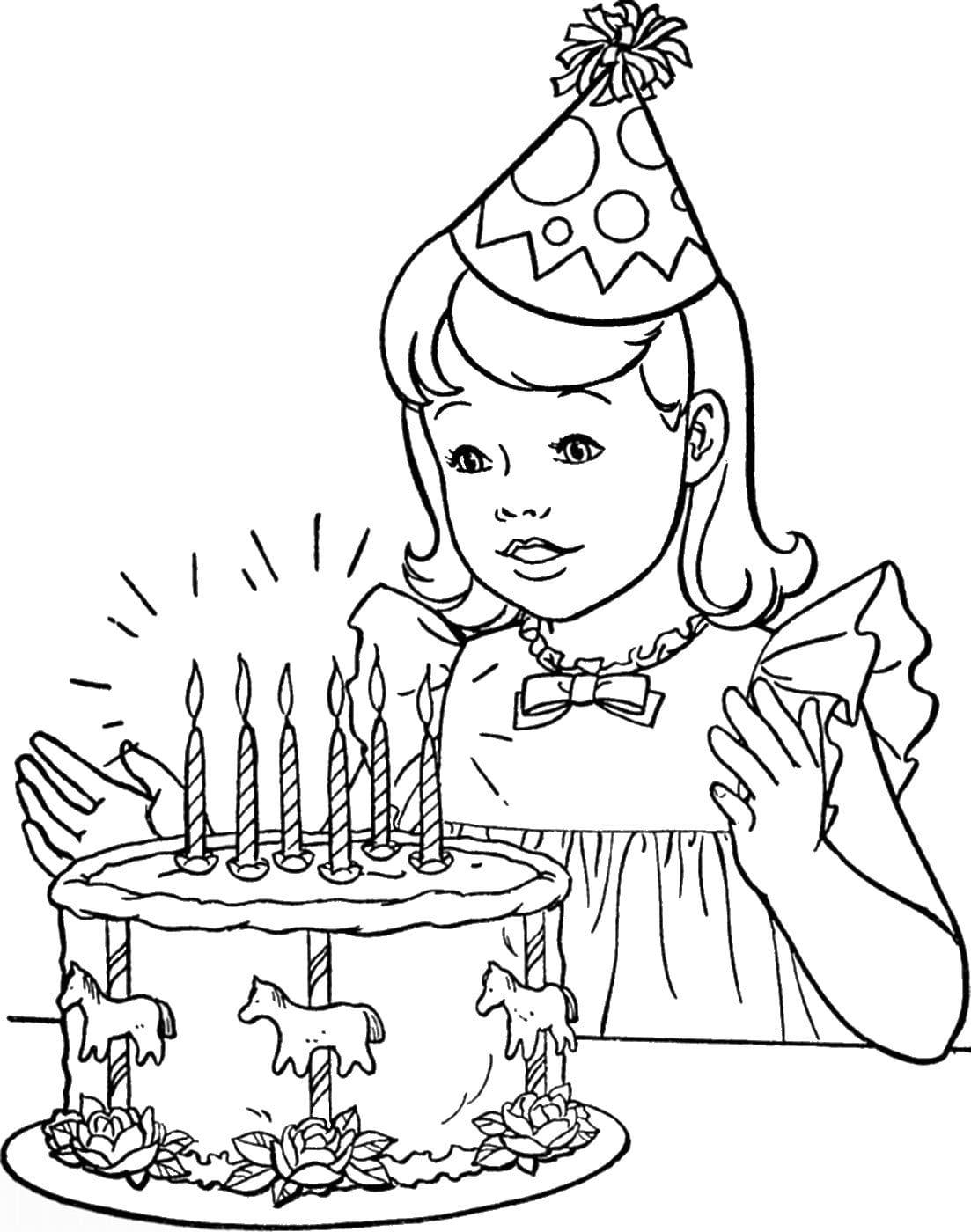 Раскраска с днем рождения для девочки 12 лет, картинки надписями открытка
