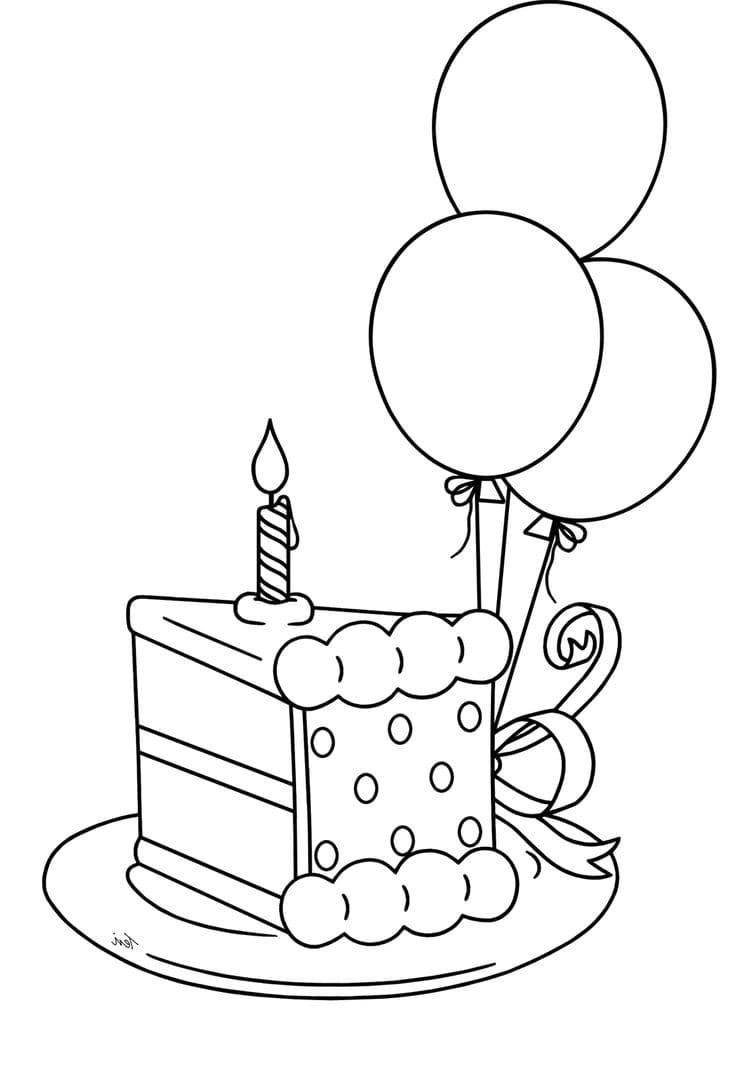 Анимация, открытка торт рисунок