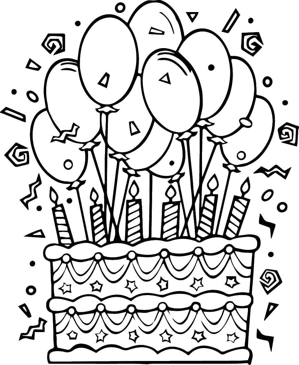 Онлайн, шаблон открытки с днем рождения черно белый