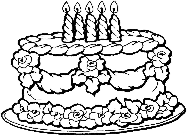 Открытки раскраски к дню рождения