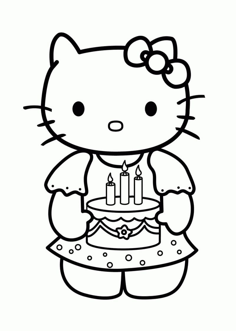 Открытка для девочки 7 лет с днем рождения раскраска